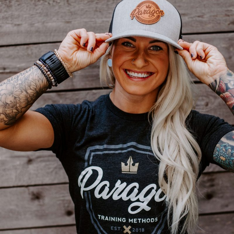 [Limited Quantities] Paragon Curved Trucker Hat – Heather Grey & Black